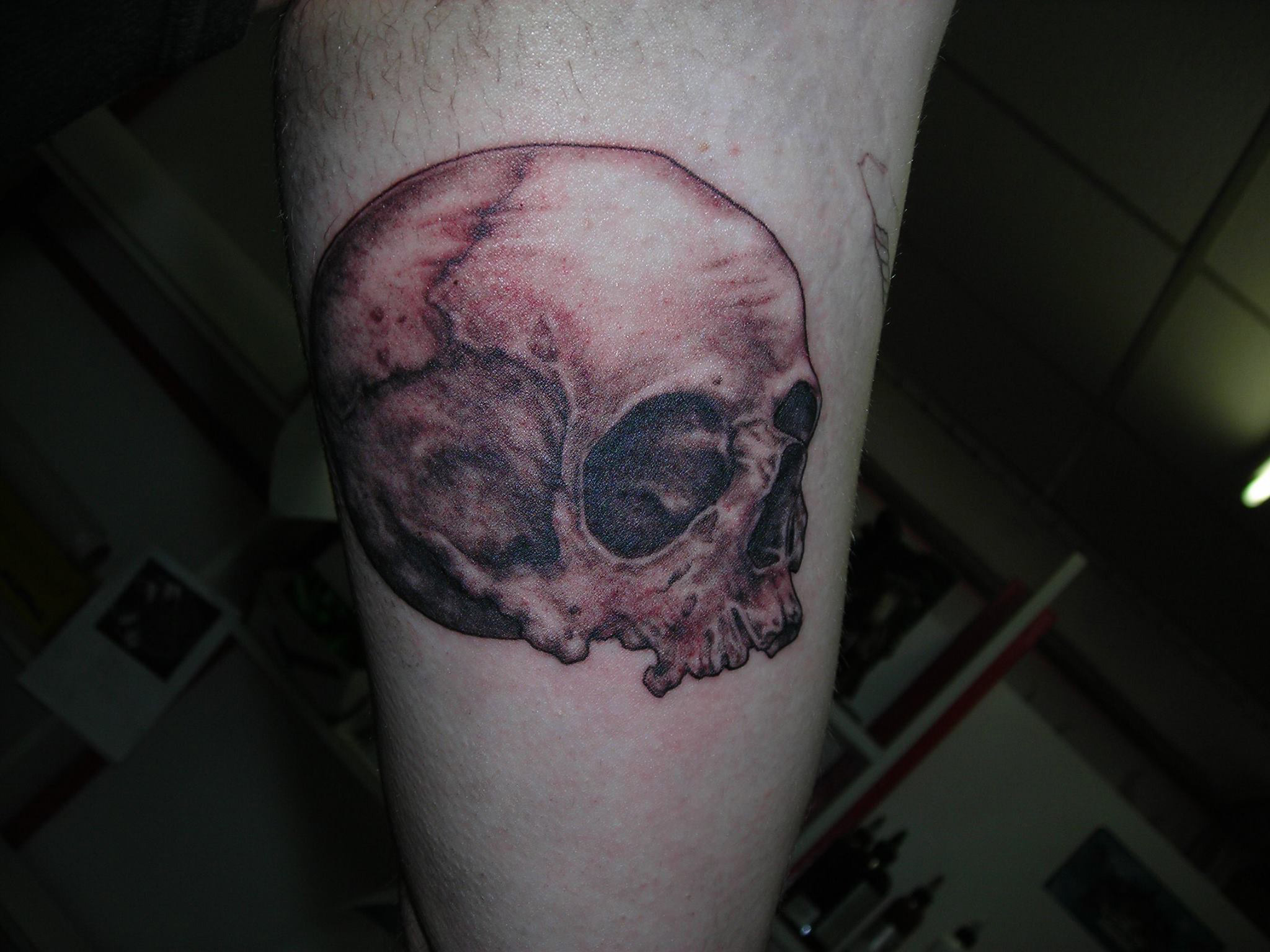 tatouage tete de mort r aliste