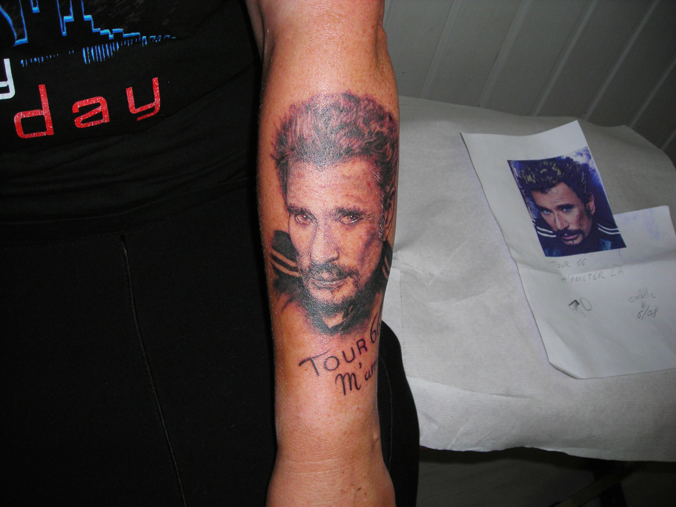 Portrait Johnny Hallyday Tattoo Studio