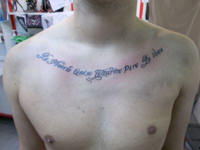 Tatouage calligraphie / lettrage