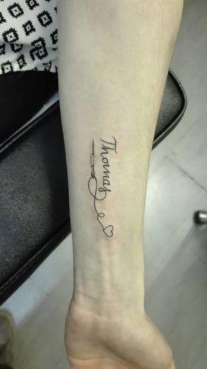 Tatouage lettrage prénom