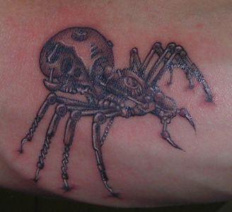Tatouage araignée biomécanique