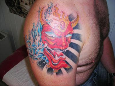Tatouage démon japonais