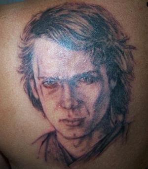 Tatouage portrait Anakin Skywalker