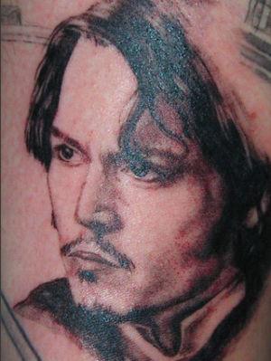 Tatouage portrait Johnny Depp