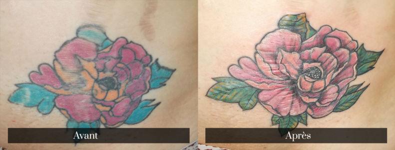 Recouvrement de tatouage en couleur