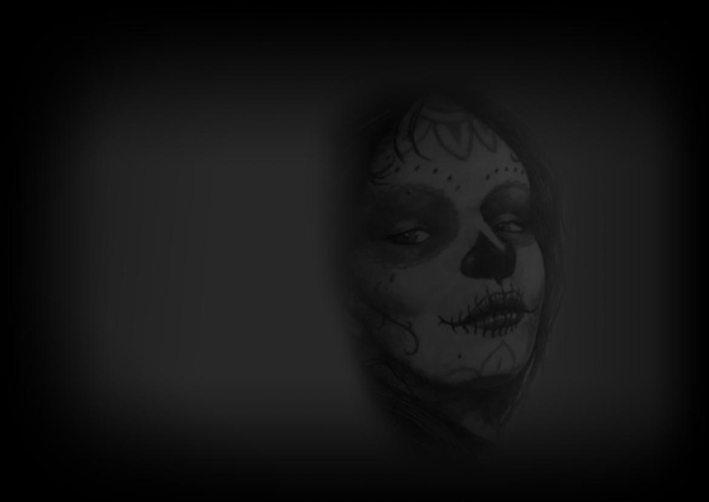 tatouage femme masque mexicain