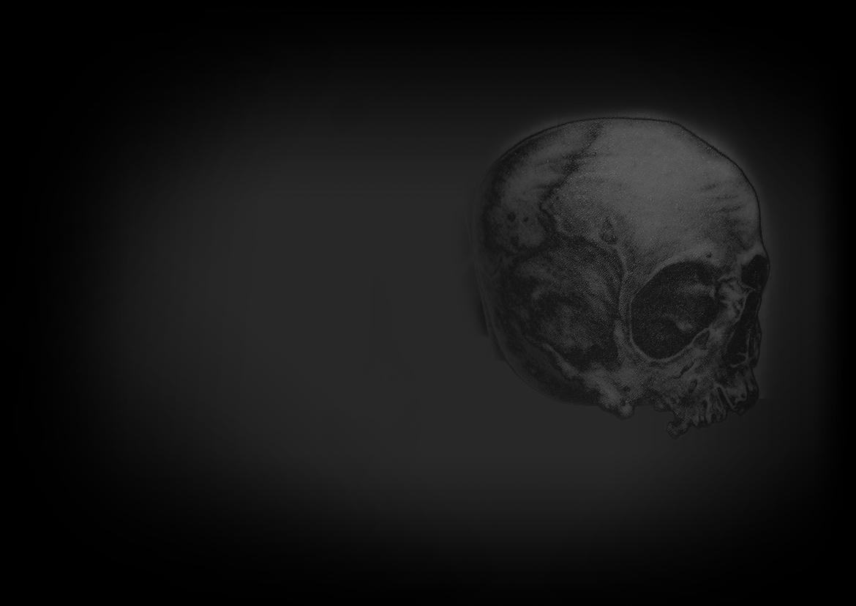 tatouage tête de mort noir et ombre