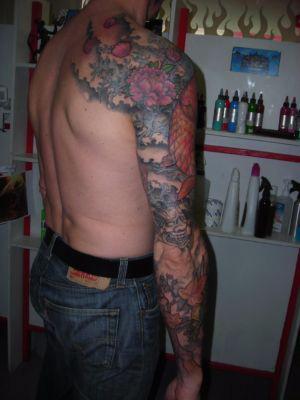 Tatouage bras intégral japonais