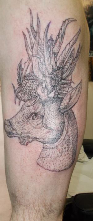 tatouage animal fantastique