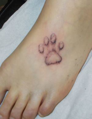 tatouage trace de patte de chat