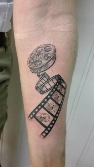 Tatouage bobine de cinéma