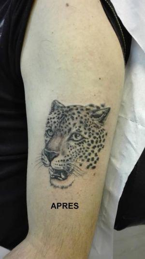 Recouvrement d'un tatouage de jaguar