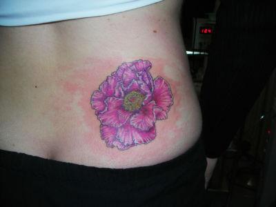 Tatouage pivoine rose